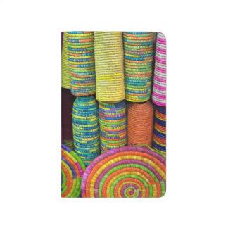 Carnet De Poche Paniers colorés au marché