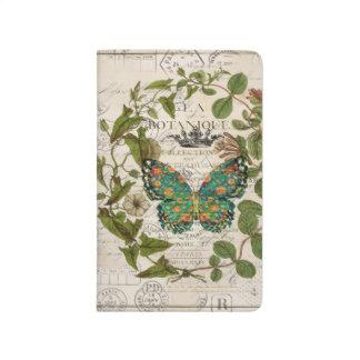 Carnet De Poche papillon botanique français de manuscrits de