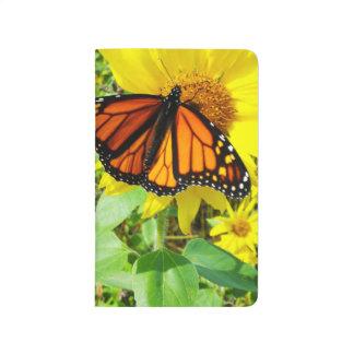 Carnet De Poche Papillon de monarque sur le tournesol