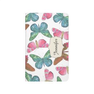 Carnet De Poche Papillons de flottement
