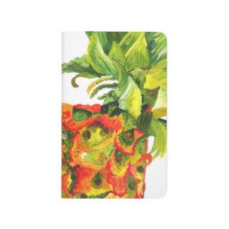 Carnet De Poche Peinture d'ananas (art de Kimberly Turnbull)