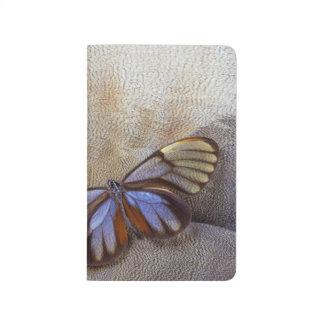 Carnet De Poche plume égyptienne d'oie de papillon de Verre-aile
