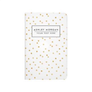 Carnet De Poche Points modernes élégants de confettis de blanc et