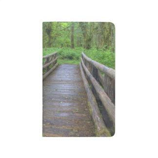 Carnet De Poche Pont en bois de traînée de clairière d'érable,