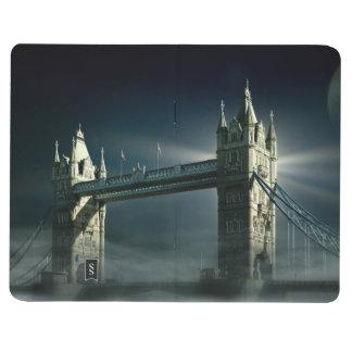 Carnet De Poche Pont Londres de tour en brouillard de nuit