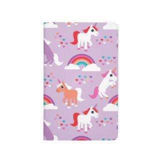 Carnet De Poche Pourpre mignon d'arc-en-ciel de licorne