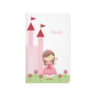 Carnet De Poche Princesse mignonne et château roses et rouges