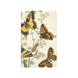 Carnet De Poche Rassemblement coloré des papillons et des