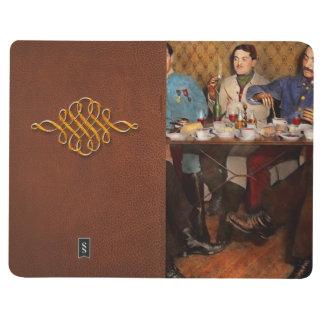 Carnet De Poche Steampunk - trois bioniques ayant le thé 1917