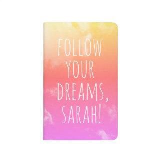 Carnet De Poche Suivez votre nom personnalisé inspiré de rêves