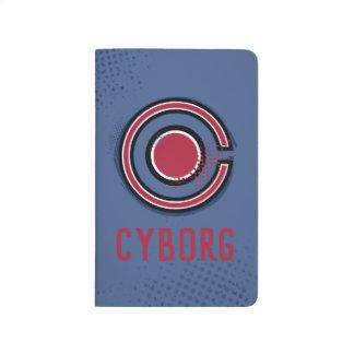 Carnet De Poche Symbole de cyborg de brosse et d'image tramée de