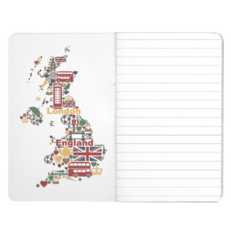 Carnet De Poche Symboles de carte de l'Angleterre