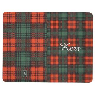 Carnet De Poche Tartan d'écossais de plaid de clan de Kerr