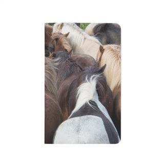 Carnet De Poche Troupeau de cheval islandais