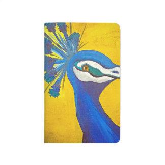 Carnet De Poche Turquoise et paon jaune