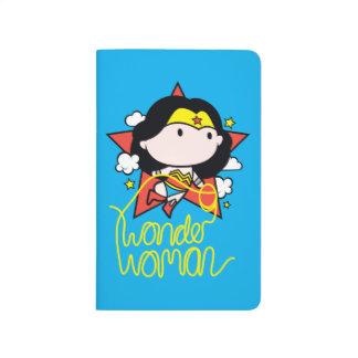 Carnet De Poche Vol de femme de merveille de Chibi avec le lasso