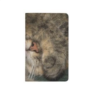 Carnet De Poche Yeux de bâche de chat de Chambre tout en dormant