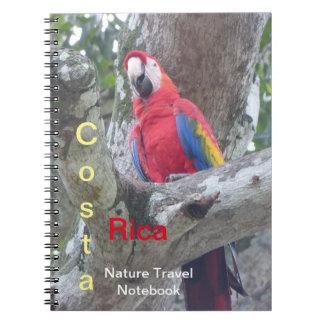 Carnet de voyage d'oiseau de jungle du Costa Rica