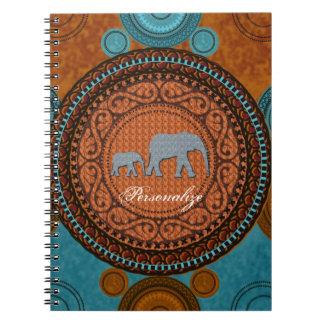 Carnet décoré d'éléphants