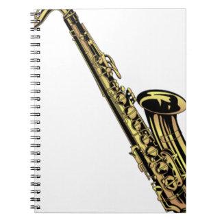 Carnet Dessin de saxophone