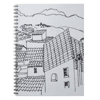 Carnet Dessus de toit de Sant'Antonino | Corse, France