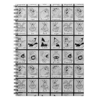 Carnet Diagramme LOONEY d'émotion de caractère de TUNES™