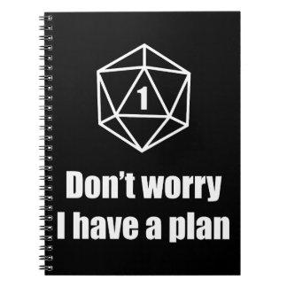 Carnet DnD - ne vous inquiétez pas, j'ont un plan