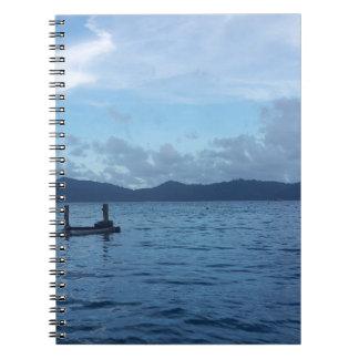 Carnet Dock de bateau d'île