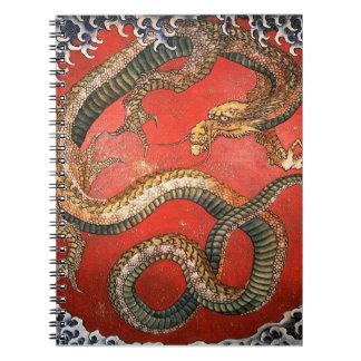 Carnet Dragon, beaux-arts de Japonais de Hokusai