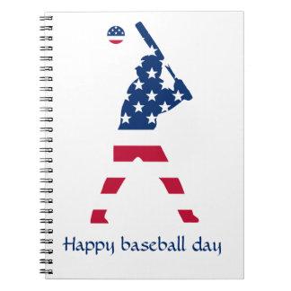 Carnet Drapeau d'Américain de base-ball de l'Amérique