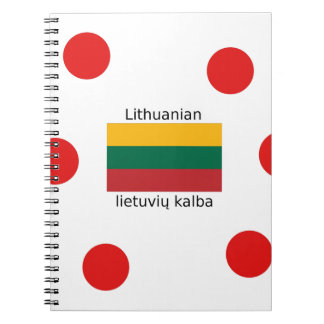 Carnet Drapeau de la Lithuanie et conception lithuanienne