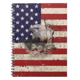 Carnet Drapeau et symboles des Etats-Unis ID155