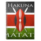 Carnet Drapeau kenyan Hakuna Matata