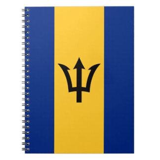 Carnet Drapeau patriotique des Barbade