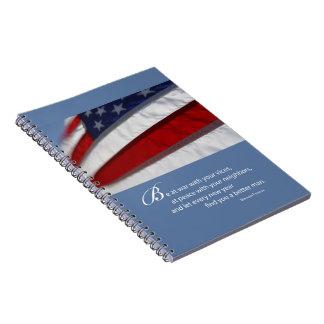 Carnet Drapeau patriotique et américain