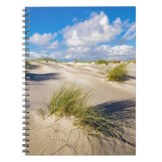 Carnet Dunes sur l'île Amrum de la Mer du Nord