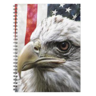 Carnet Eagle et drapeau
