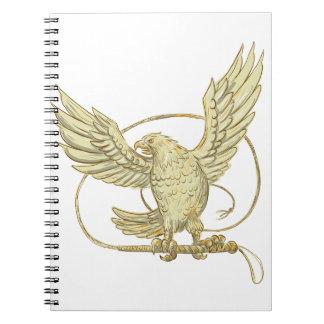 Carnet Eagle saisissant le dessin de Bullwhip