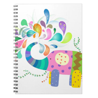 Carnet Éclaboussement coloré d'éléphant