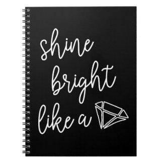 Carnet Éclat lumineux comme un diamant