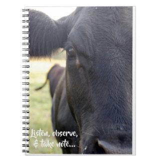 Carnet Écoutez, observez, et prenez la vache à note