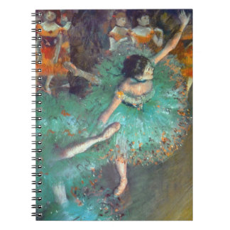 Carnet Edgar Degas - les danseurs verts - danse de ballet