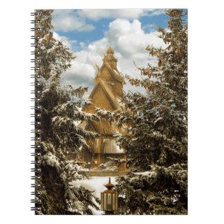 Carnet Église Minot le Dakota du Nord de Gol d'hiver