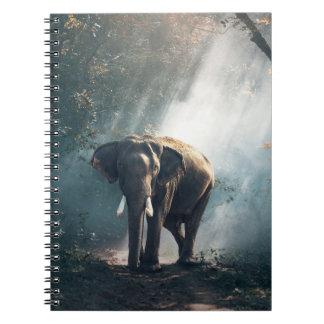 Carnet Éléphant asiatique dans une clairière ensoleillée
