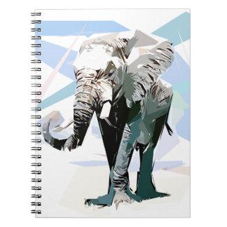 Carnet éléphant d'afrique