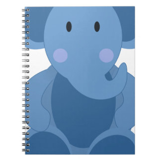 Carnet Éléphant de bébé bleu