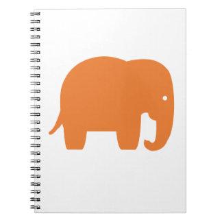 Carnet éléphant orange
