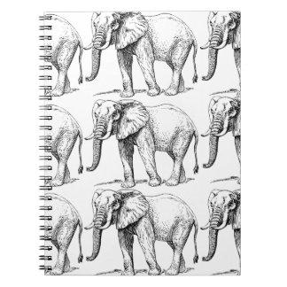 Carnet éléphants carrés