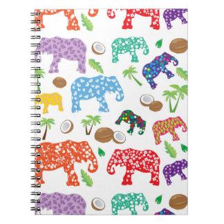 Carnet Éléphants tropicaux