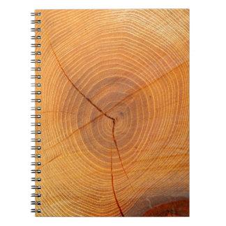 Carnet en coupe de photo d'arbre d'acacia